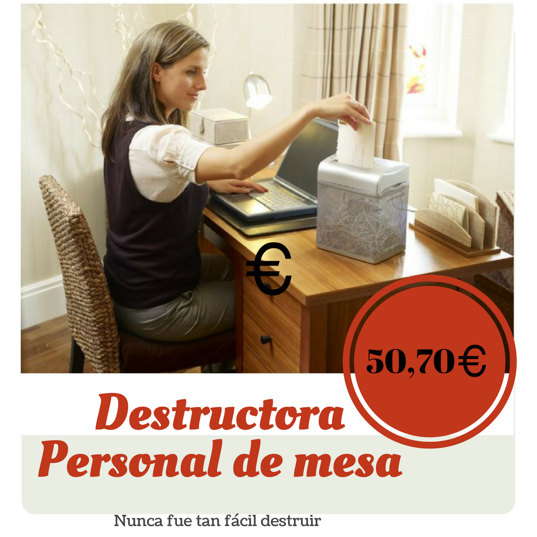 Destructora documentos de mesa